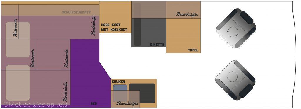 plattegrond indeling camper